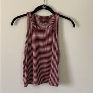 NWOT American Eagle High Neck Cropped Tank M